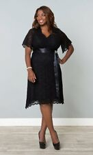 NEW KIYONNA LANE BRYANT BLACK RETRO GLAM LACE DRESS PLUS SIZE 1X