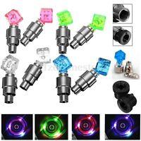 4x Dice LED Flash Light Neon Wheel Spoke Tire Valve Dust Cap Car Bike Motor Lamp