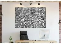 Keith Haring - Monkey Puzzle - Canvas Wall Art Print - Various Sizes