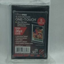 (5) Ultra Pro Black Border One-Touch Magnetic Holders 35pt UV Protection 5 Pack