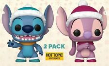 Funko Pop! Lilo & Stitch STITCH & ANGEL HOLIDAY 2PK Hot Topic Exclusive PREORDER