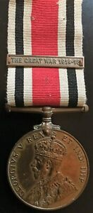 GvR SPECIAL CONSTABULARY LONG SERVICE MEDAL CLASP THE GREAT WAR 1914 - 1918.