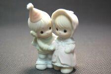 Enesco Precious Moments Happy New Year 529818 Leon & Evelyn Marie Figurine 1994