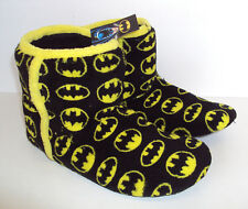 Batman Mens Slippers Official DC Slip On Novelty Booties New UK Sizes 9-10 11-12