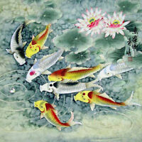 Fish Oriental illustration Ceramic Decorative Coaster wall tile #2