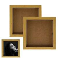 Square Wood Effect Deep Shadow Box Photo Picture Frame Scrabble Display Decorate