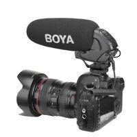 BOYA BY-BM3031 Interview Video shotgun supercardioid microphone for Canon Nikon