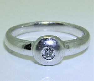 9CT WHITE GOLD DIAMOND SINGLE STONE RING  SOLITAIRE Size N 9 CARAT