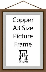 Hanging Handmade Copper Wooden Picture/Photo Frame With Mount - A3 Size by Be...