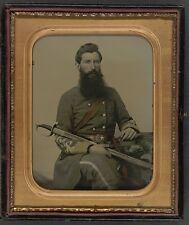 Photo Civil War Confederate 1st Virginia Cavalry Regiment With Sword