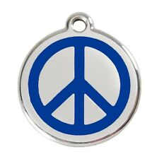 Red Dingo Dog Cat Pet ID Tags Charms FREE Personalized Engraving PEACE SIGN