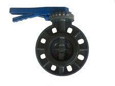 4 inch New Sch80 PVC Butterfly Valve Locking Handle Wafer Style Irrigation