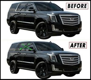 Chrome Delete Blackout Overlay for 2015-20 Cadillac Escalade Window Trim