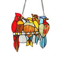 Stunning Bird Design Stained Glass Hanging Window Panel Tiffany Style Suncatcher