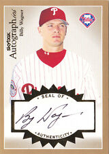 2004 Skybox Autographics Signatures Gold #BW1 Billy Wagner Auto #/25