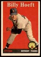 1958 Topps Set Filler Billy Hoeft Detroit Tigers #13