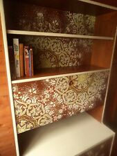 Original 1970's solid wooden wall unit with hand painted mandalas