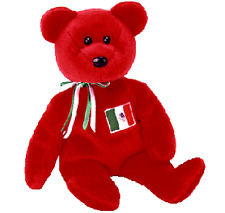 """12 Ty Beanie Babies OSITO The Red Bear, Mexico, 8"""", 4244, Cinco de Mayo Favors"""
