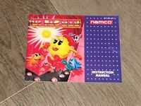 Ms. Pac-Man Instruction Manual Booklet Nintendo Nes Authentic