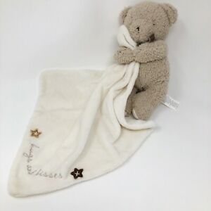 Carters Lovey Bear Blanket Hugs And Kisses Holding Brown Cream Security Carter's