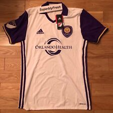 Adidas MLS Orlando City Authentic Soccer Jersey - White - NEW W/TAGS S