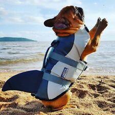 Pets Flotation Vest Life Jacket Shark Style Dogs Safety Swimming Suits Preserver