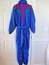 Vtg Descente Snowsuit Ski Suit  Men M Bright Blue 1pc Snow Pant Jacket Perfect!