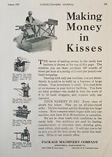 1927 AD.(XG15)~PACKAGE MACHINERY CO. SPRINGFIELD, MASS. CHOCOLATE KISS MACHINE