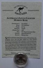 1995 Australia LEGGENDE Murray ROSE $10 DOLLARO SILVER MONETA COA