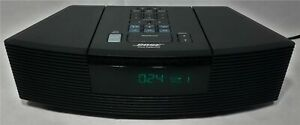 MINT Black Bose Wave Radio CD Player Alarm Clock Model AWRC-1G 100% WORKING!!