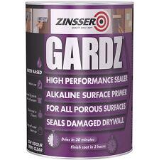 ZINSSER gardz Haute Performance Scelleuse apprêt poreux endommagé drywalls 1L