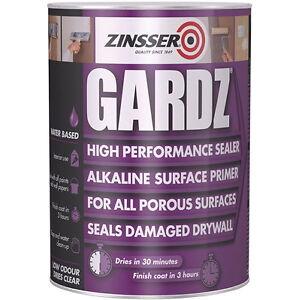 Sale Zinsser Gardz High Performance Sealer Primer Porous Damaged Drywalls 5L