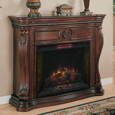 Lexington Infrared Electric Fireplace Mantel in Empire Cherry