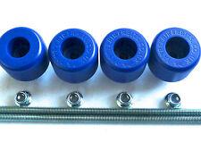 TM RACING 450 SMX CRASH MUSHROOM FRONT & REAR AXLE SLIDER BOBBINS BLUE  TS18