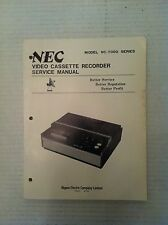 NEC Nippon Electric Company VC-7200 VCR Original Shop Service Manual Schematics