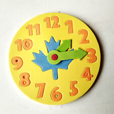 1 Piece Kids DIY Clock Learning Education Toys Jigsaw Puzzle Game for KIDS FI