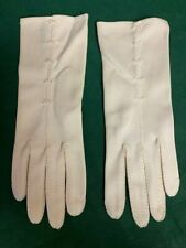 Vintage White Dress Gloves, Beautiful Stitching, Very Small Hands, 1940'S