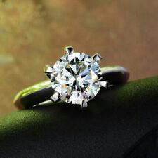 White Gold 2.00 Ct Size 7 Dvvs1 Round Cut Diamond Solitaire Engagement Ring 14K