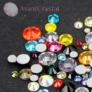 Assorted Sizes Mixed Colour Glass Rhinestone No-Hotfix Nails Decor AVANT CRYSTAL