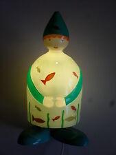 lampe en bois et résine (thème:poisson) (l'oiseau bateau); taille:36X15cm