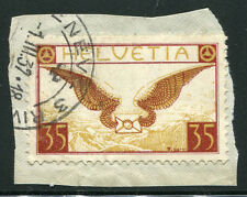 SWITZERLAND ~ #C13 Very Nice Used Issue ON PIECE AIR MAIL ALLEGORY CDS ~ S5392