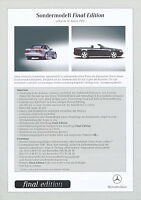 2195MB Mercedes SL Final Edition Preisliste 2000 14.8.00 R 129 280 320 500