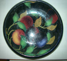 2 pcs ROYAL STANLEY JACOBEAN WARE BOWLS 8 & 5.5 INCH PLUMS AND LEAVES