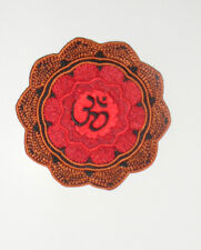 """Zen OM Mandala Embroidered iron-on Patch 3 3/8"""" NEW"""