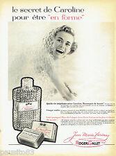 PUBLICITE ADVERTISING 066  1958  Jean Marie Farina Eau Cologne Roger & Gallet