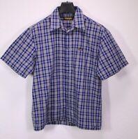 HB348 Wrangler Herren Hemd Shirt blau weiß kariert Gr. L Kurzarm regular fit