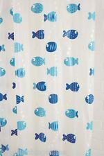 Croydex Wiggly Fish Vinyl PEVA Shower Curtain AE282524H