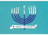 postcard 🕎 HAPPY HANUKKAH Jewish Israel Judaism holiday post card