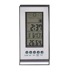 Large Thermometer Hygrometer Weather Station Humidity Temperature Monitor Clock