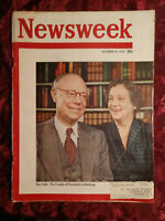 NEWSWEEK Magazine October 30 1950 Oct 50 10/30/50 ROBERT A. TAFT KOREA +++
